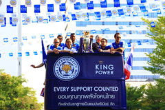 Bangkok, THAILAND - May 19, 2016: Leicester City arrive in Bangkok to heroes on Sukhumvit Road in May 19, 2016. Bangkok, Thailand. Bangkok, THAILAND - May 19 Royalty Free Stock Image