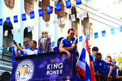 Bangkok, THAILAND - May 19, 2016: Leicester City arrive in Bangkok to heroes on Sukhumvit Road in May 19, 2016. Bangkok, Thailand. Bangkok, THAILAND - May 19 Stock Photos