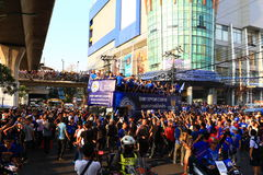Bangkok, THAILAND - May 19, 2016: Leicester City arrive in Bangkok to heroes on Sukhumvit Road in May 19, 2016. Bangkok, Thailand. Bangkok, THAILAND - May 19 Stock Image