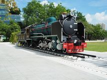 Mikado Steam Locomotive at Siriraj Hospital stock photo