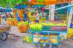 The grilled corn in Mahanak Fruit Market, Bangkok, Thailand