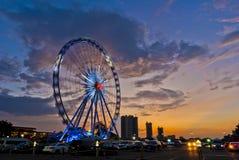 Bangkok, Thailand - May 26th, 2016: Ferris Wheel at Asiatique, an open-air mall in Bangkok, Thailand. Royalty Free Stock Photos