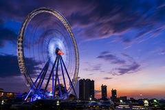 Bangkok, Thailand - May 26th, 2016: Ferris Wheel at Asiatique, an open-air mall in Bangkok, Thailand. Royalty Free Stock Image