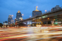 Bangkok Thailand - May 16th, 2016: Thai-Japanese Friendship Bridge on Rama 4 road, one of the busiest business district in Bangkok Stock Image
