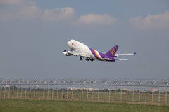 BANGKOK THAILAND - May31 - thai airway cargo plane take off from Stock Image