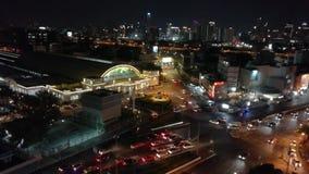 Bangkok,Thailand - May 15,2018: Time-lapse day jam road at hualumpong station ,Bangkok Railway Station or Hua Lamphong Station. Is the main railway station in stock video