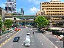 View of Ratchaprasong Intersection in Bangkok Thailand Stock Images