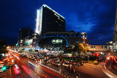 BANGKOK THAILAND - MBK-köpcentrum Royaltyfri Fotografi