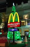 Bangkok, Thailand: McDonald's and K Bank Xmas Tre Royalty Free Stock Photography