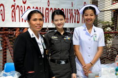 Bangkok, Thailand: Medical Staff at Political Demonstrations Royalty Free Stock Photo