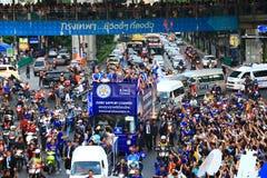 Bangkok, THAILAND - Mei 19, 2016: De Stad van Leicester komt in Bangkok aan aan helden op Sukhumvit-Road in 19 Mei, 2016 Bangkok, Stock Afbeeldingen