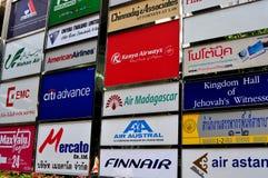 Bangkok, Thailand: A Melange of Advertising Signs Stock Image