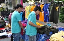 Bangkok, Thailand: Men Shopping for Clothing Royalty Free Stock Image