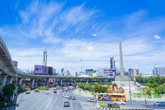 Bangkok, Thailand - Mening over Victory Monument grote militar stock afbeelding