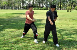 Bangkok, Thailand: Mensen die Tai doen 'Chi Stock Afbeeldingen