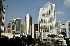 Bangkok, Thailand: Moderne Skyline-Ansicht stockfotografie