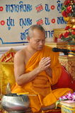 Bangkok, Thailand: Monk at Prayer Royalty Free Stock Image