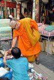 Bangkok, Thailand: Monk Shopping Stock Photo