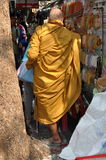 Bangkok, Thailand: Monk on Thanon Maha Rat Royalty Free Stock Images