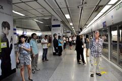 Bangkok, Thailand: MRT Subway Station Royalty Free Stock Image