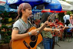 Bangkok, Thailand: Musicians at Chatuchak Market Stock Photography