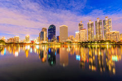 Bangkok thailand night city Stock Images
