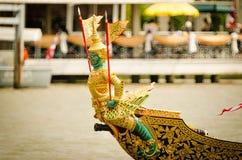 BANGKOK,THAILAND-NO VEMBER 9:Decorated barge parades past the Grand Palace at the Chao Phraya River during Fry the Kathina ceremon Stock Photo