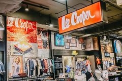 :Lee Cooper In Department Store Thailand,Lee Cooper is a British clothing company that licenses the sale of many branded items. Bangkok, Thailand - Nov 8, 2018 royalty free stock photo