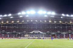 BANGKOK THAILAND NOV12: 2015 nicht identifizierte Fans Thailand-Unterstützung Lizenzfreie Stockfotos