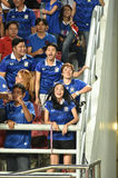 BANGKOK THAILAND NOV12: 2015 Unidentified fans of Thailand. Supporters during the Fifa World Cup Group F qualifying Match between Thailand and Chinese Taipei at Royalty Free Stock Images