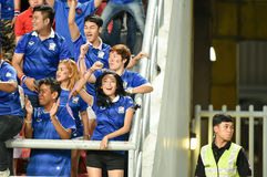 BANGKOK THAILAND NOV12: 2015 Unidentified fans of Thailand supporters during the Fifa World Cup Group F qualifying Match between T Stock Image