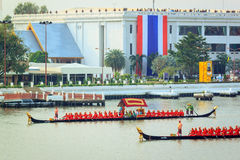 BANGKOK, THAILAND - NOVEMBER 6: Thai Royal barge Stock Images