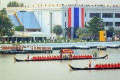 BANGKOK, THAILAND - NOVEMBER 6: Thai Royal barge. Travel down Chao Phaya river to celebrate King of Thailand 85th birthday (December 5, 2012) in Bangkok Stock Images