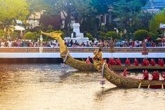 BANGKOK, THAILAND - NOVEMBER 6: Thai Royal barge. Travel down Chao Phaya river to celebrate King of Thailand 85th birthday (December 5, 2012) in Bangkok Royalty Free Stock Image