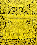 Ancient Thai gold leaf art royalty free stock images