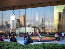 Bangkok, Thailand - November 12, 2018: Apple loyal customer are visiting the new Apple Store at the iconsiam in bangkok, Thailand stock photography