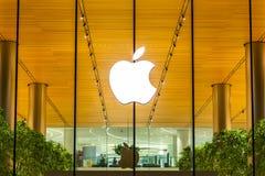 Bangkok, Thailand - November 9, 2018 : Apple store shopfront log royalty free stock image