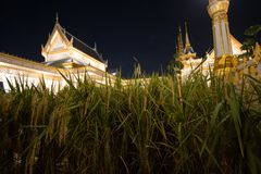 Bangkok, Thailand - 4. November 2017; Architektur im königlichen Krematorium für König Bhumibol Adulyadej Lizenzfreies Stockfoto
