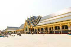 Beautiful supplementary structures around Royal Crematorium at November 04, 2017.JPG. Bangkok, Thailand - November 04, 2017; Beautiful supplementary structures stock images