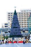 Bangkok, Thailand - November 15, 2009; Closeup big christmas tr. Ee front of centralworld at November 04, 2009 stock images