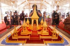 Bangkok, Thailand - 10. November 2017: Die königliche Krematoriumsausstellung von König Bhumibol Adulyadej bei SanamLuang Stockfotos