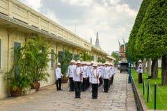 Bangkok, Thailand - November 15, 2016: guard in the Royal Palace Stock Image