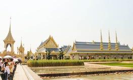 Bangkok Thailand - November 04, 2017; Hänrycka den kungliga Crematen Arkivfoto