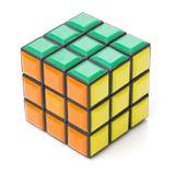 Bangkok, Thailand - November 11, 2017: Kubus 44 van Rubik is moeilijk voor spel maar goed voor hersenen stock foto