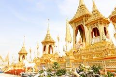 Landscape of Beautiful gold view The Royal Crematorium for HM the late King Bhumibol Adulyadej  at November 04, 2017. Bangkok, Thailand - November 04, 2017 Stock Images