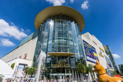 Bangkok, Thailand - 29 November 2015 : The low angle view of Siam Paragon (Luxury Shopping Mall at the Center of Bangkok) Stock Images