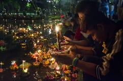 BANGKOK THAILAND - NOVEMBER 25: Loy Krathong festival Arkivbild