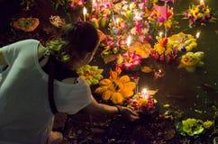 BANGKOK THAILAND - NOVEMBER 25 : Loy Krathong festival Royalty Free Stock Photography