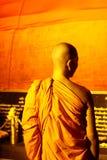 Monk. BANGKOK, THAILAND - NOVEMBER 21: A monk directs people during Loy Khratong Festivities at Wat Saket on November 21, 2010 in Bangkok, Thailand Royalty Free Stock Photos