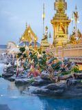 Mythical creatures of Himvanta. Bangkok Thailand, November 11, 2017 : Mythical creatures of Himvanta around The Royal crematorium of King Rama IV Stock Photo